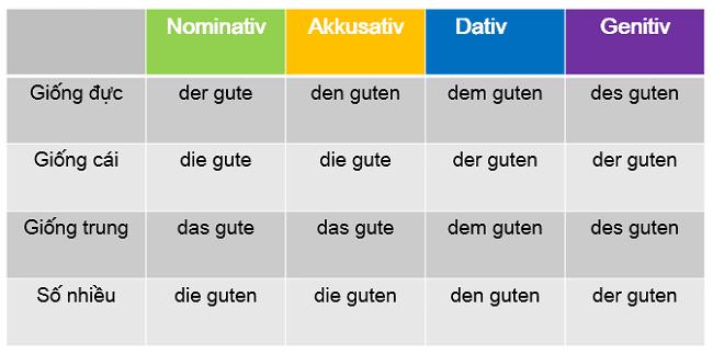 Tìm hiểu về 4 biến cách và cách sử dụng trong tiếng Đức.