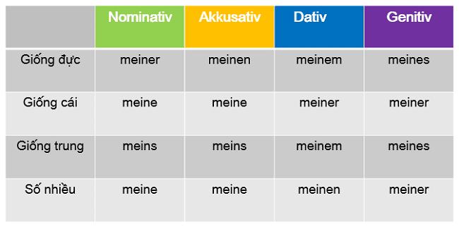 Đại Từ Sở Hữu Trong Tiếng Đức, Cách Nói Sở Hữu Trong Tiếng Đức